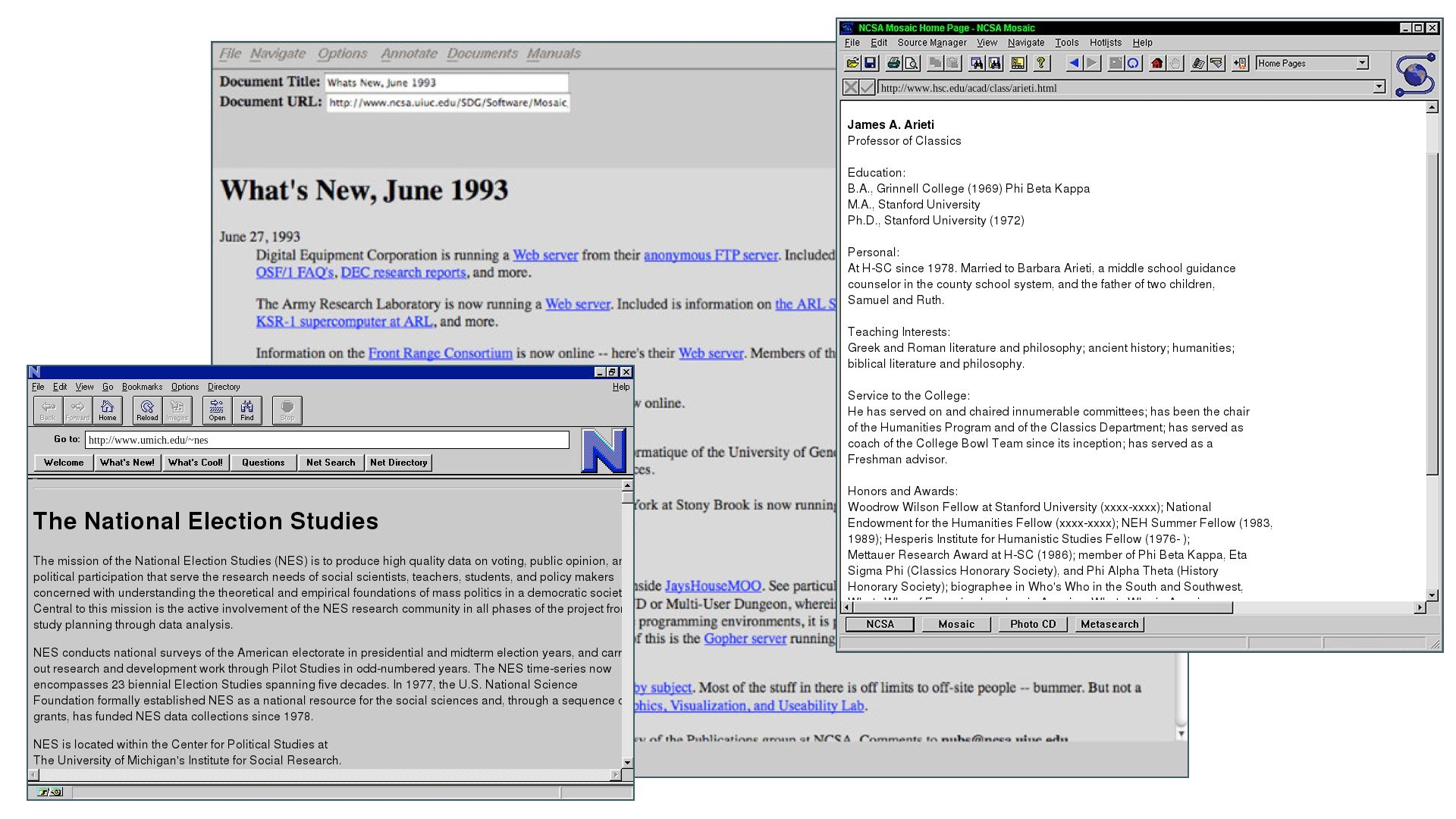 old webpages with lots of text