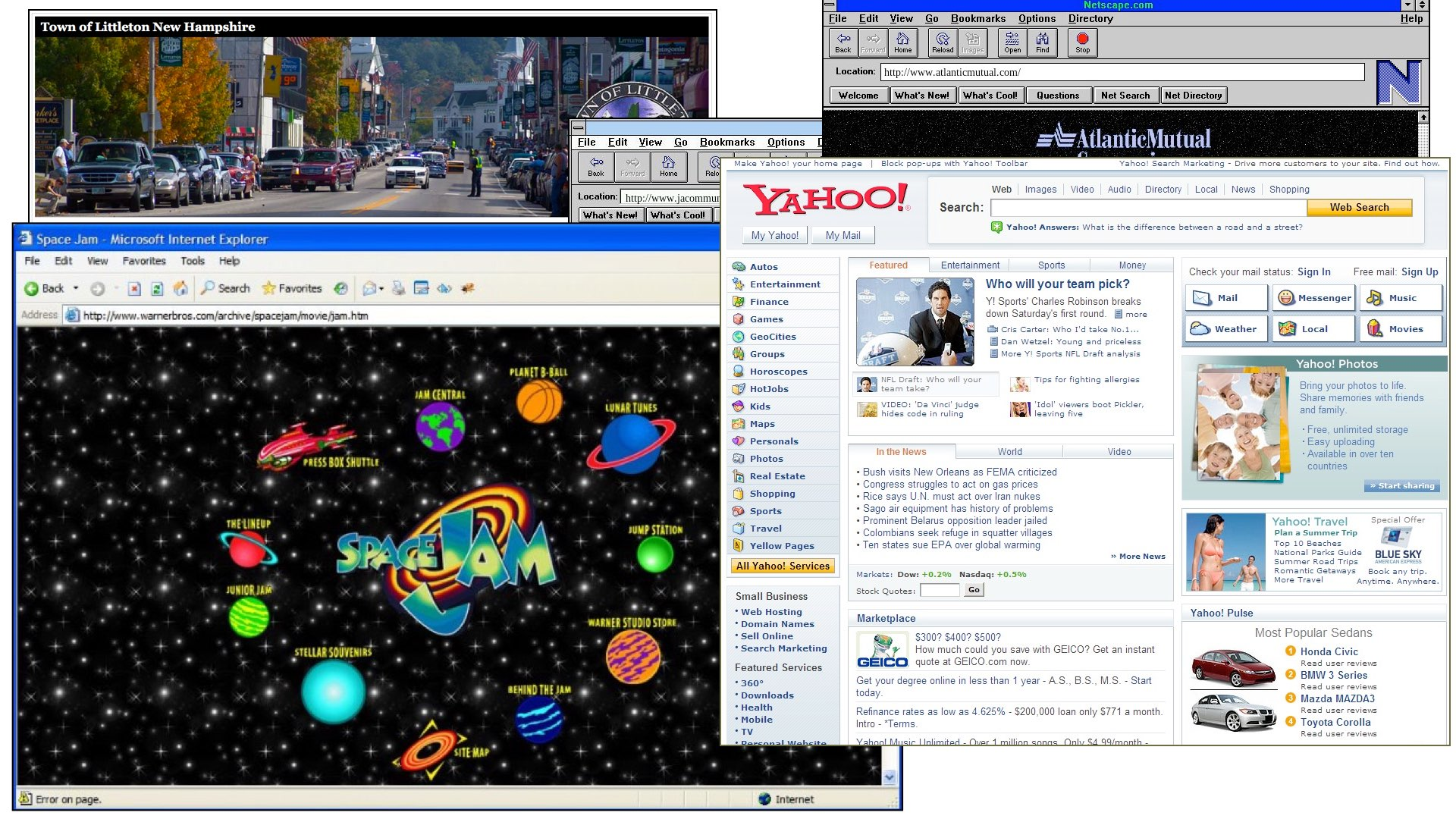 cluttered webpages