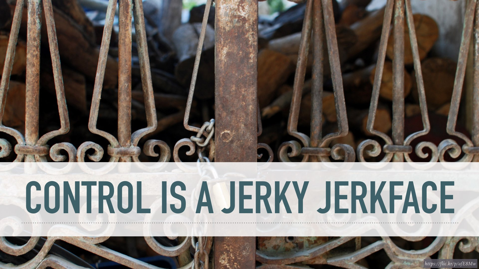 control is a jerky jerkface